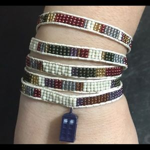 Jewelry - Handcrafted Doctor who inspired Wrapped Bracelet